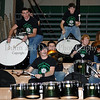 Members of the Carroll Drum Line were in attendance at the game against Lewisville last Friday night at Carroll Senior High School to support fundraising efforts for Joe Groh, the father of Carroll basketball player Christie Groh.