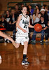Carroll sophomore guard Monica Pillow bring up the ball in the game against Lewisville last Friday night at Carroll Senior High School.