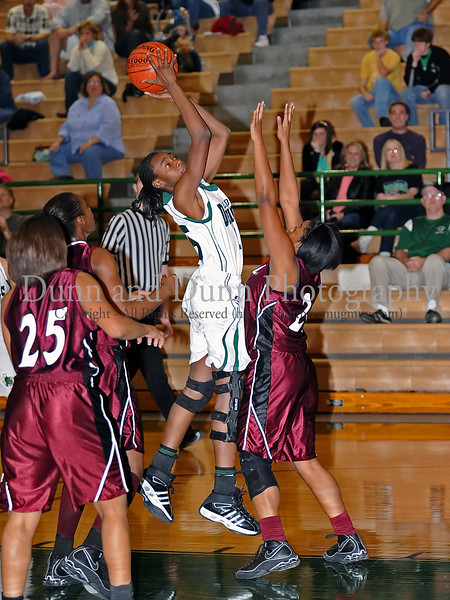 Carroll freshman guard Janelle Jenkins takes a shot in the game against Lewisville last Friday night at Carroll Senior High School.