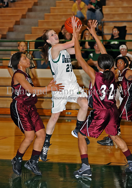 Carroll sophomore guard Monica Pillow shoots a layup in the game against Lewisville last Friday night at Carroll Senior High School.