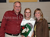 Carroll senior forward Andrea Carr with her parents Ricky and Jane Carr at Senor Night following the game against Marcus last Friday night at Carroll Senior High School.