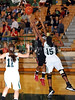 Marcus senior Adriene Easley takes a shot in the game against Carroll last Friday night at Carroll Senior High School.
