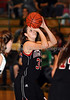 Marcus sophomore Hailie Sample shoots a free throw in the game against Carroll last Friday night at Carroll Senior High School.