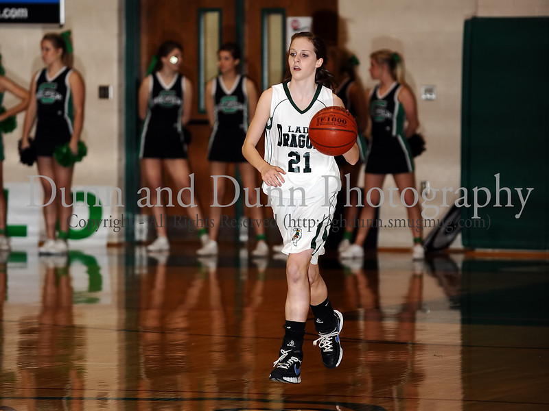 Carroll sophomore guard Monica Pillow brings up the ball in the game against Marcus last Friday night at Carroll Senior High School.