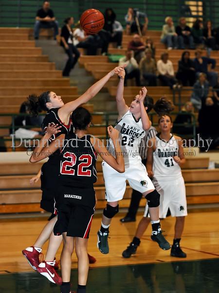 Carroll senior guard Kelli Bennett takes a shot in the game against Marcus last Friday night at Carroll Senior High School.