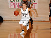 Carroll sophomore guard Makenzie Burnett brings up the ball in the game against Marcus last Friday night at Carroll Senior High School.