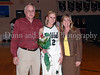 Carroll senior forward Andrea Carr with her parents Ricky and Jane Carr at Senor Night ceremonies at halftime during the game against Marcus last Friday night at Carroll Senior High School.