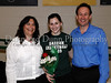 Carroll senior forward Casey Lewis with her parents Carla and Casey Lewis at Senor Night following the game against Marcus last Friday night at Carroll Senior High School.