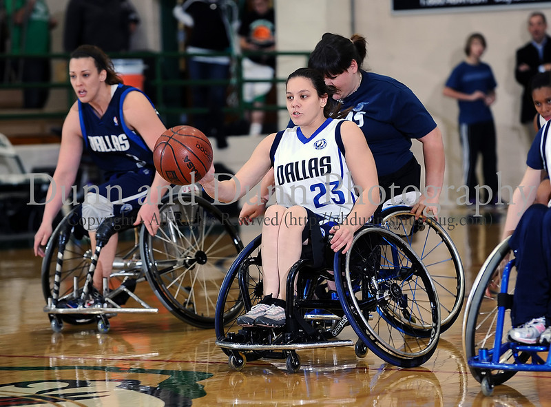 2010-01-15 - As a part of the fund raising activities for The Joseph Groh Foundation, at halftime during last Friday night's girl's basketball game between Carroll and Coppell, the crowd was entertained by the Dallas Mavericks Lady Wheelchair Basketball team.