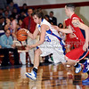 Grapevine junior guard Robert Risk drives to the basket in the game against Northwest last Thursday night at Grapevine High School.