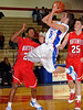 Grapevine senior guard Kody Diehm takes a shot in the game against Northwest last Thursday night at Grapevine High School.