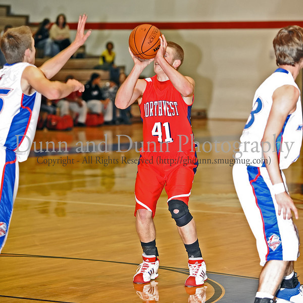 Northwest senior Ryan Russell takes a shot in the game against Grapevine Northwest last Thursday night at Grapevine High School.