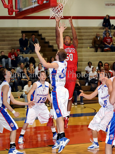 Northwest senior Rodney Nobles takes a shot in the game last Thursday night at Grapevine High School.