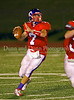Senior QB Matt Harbin prepares to pass in the game against Marcus on September 7, 2007.