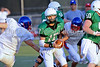 Quarterback Kyle Padron carries the ball in the scrimmage against Grapevine High School Friday night at Dragon Stadium.