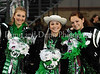 **Brooke Pennings, Sam Sternfeld and Kendall Rowell pose for a photograph prior to Carroll's 2009 Homecoming game against Coppell last Friday night at Dragon Stadium.