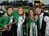 **Zach Fletcher, Taylor Hill, Kelsey Holtz and Ben Foss pose for a photograph prior to Carroll's 2009 Homecoming game against Coppell last Friday night at Dragon Stadium.