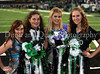 **Maleah Johnson, Hannah Lumpkins, Amy Keller and Laura Spitler pose for a photograph prior to Carroll's 2009 Homecoming game against Coppell last Friday night at Dragon Stadium.