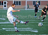 Carroll senior Cameron Brennan shoots and scores Carroll's third goal in Carroll's 3-0 bi-district win over Trinity.