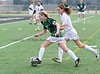 Carroll senior Emily Jenkins breaks past a Tyler Lee defender during Carroll's 2-0 victory over Lee during the 2011 Red Bull Nolan College Showcase last Saturday afternoon at Dragon Stadium.