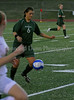 Carroll sophomore midfielder Monica Alvarado (#6) dribbles the ball up the field.