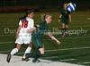 Carroll senior forward Lauri Byrne (#2) breaks past a Grapevine defender.