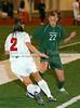 Carroll freshman forward Caitlin Schneider(#22) cuts off a Grapevine pass.
