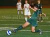 Carroll sophomore midfielder Monica Alvarado (#6)  advances the ball.