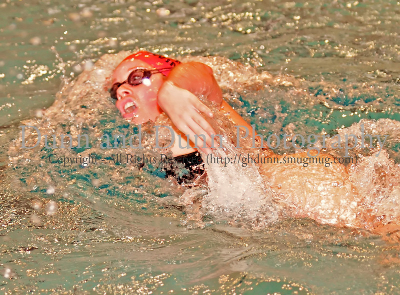 Carroll senior Lisa Ginder swims in the girls' 500 Yard Freestyle at the District 8-5A Championships at Carroll Senior High School on Saturday, January 25, 2008.  Ginder finished 2nd in the event.