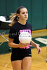 "Junior libero Jamie Harris at ""Digging at Dawn"", Carroll's first practice of the season, August 4th at Carroll Senior High School."