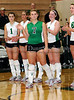 ] Carroll's Caitlin Nolan is introduced at the beginning of Friday night's contest against Flower Mound at Carroll Senior High School.  Carroll won the match in straight sets.