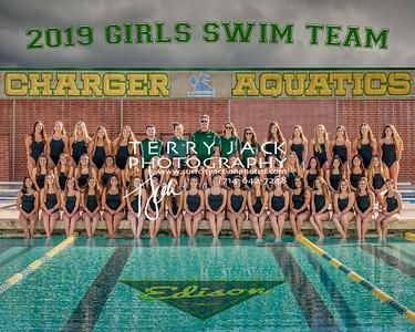Edison Girls Swim Team 2019