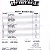 Parke Heritage Baseball 2021 Wolves