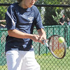 04/29/2010...Waldwick's Mark Schuereman was defeated 6-2, 6-2 in the first singels by Ethan Budgar of Glen Rock.<br /> PHOTO: KELLY BIRDSEYE