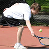 04/29/2010...Glen Rock first doubles Joe Acosta with Mitch Rubiano defeated Kevin Park and Daniel Johnson 6-1, 6-1.<br /> PHOTO: KELLY BIRDSEYE