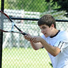 04/29/2010...Glen Rock second doubles Mike Krasnoff with Dan Forstot defeated Matt Smith and Mike Mayer of Waldwick, 6-0, 6-0.<br /> PHOTO: KELLY BIRDSEYE