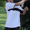 04/29/2010...Glen Rock first doubles Mitch Rubiano with Joe Acosta defeated Kevin Park and Daniel Johnson 6-1, 6-1.<br /> PHOTO: KELLY BIRDSEYE