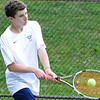 05/04/2010...Indian Hills' second singles Peter Eiseman fell to Ricky Pelican of Pascack Valley 6-4, 1-6, 9-7<br /> PHOTO: KELLY BIRDSEYE