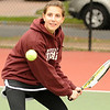 10/02/2009...Glen Rock co-captain and first doubles Rachel Rubin.<br /> PHOTO: KELLY BIRDSEYE