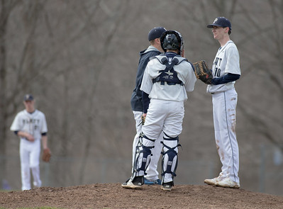 Meriden's Platt Panthers and Wilcox Tech Indians baseball game Friday at Legion Field in Meriden. The Panthers defeated the Indians 6 to 5. April,7 2017 © 2017 Justin Weekes