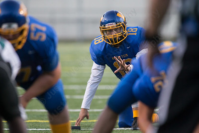 Wilcox Tech's Derek Gendreau waits for the snap on the extra point Saturday at Falcon Field in Meriden Sep. 24, 2016   Justin Weekes / For the Record-Journal