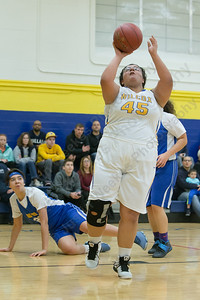 Wilcox Tech's Rhaelene Hastings gets open for a layup Tuesday at Wilcox Tech High School in Meriden Jan. 3, 2017 | Justin Weekes / For the Record-Journal