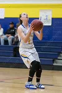 Wilcox Tech's Samantha Petro gets open for a layup Tuesday at Wilcox Tech High School in Meriden Feb. 14, 2017 | Justin Weekes / For the Record-Journal