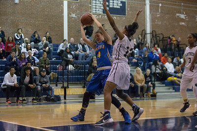 Wilcox Tech's Nicole Tiezzi looks to put back a rebound Tuesday at Platt High School in Meriden December 19, 2017 | Justin Weekes / For the Record-Journal