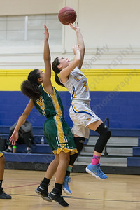 Wilcox Tech's Tatiana Gonzalez puts in a layup Tuesday at Wilcox Tech in Meriden January 30, 2018 | Justin Weekes / Special to the Record-Journal