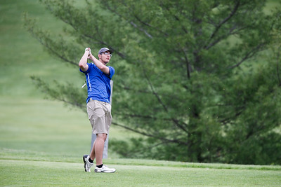 Wilcox Tech's Eric Pellegrino Wednesday at Hunter Golf Club in Meriden May 16, 2018 | Justin Weekes / Special to the Record-Journal
