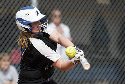 Wilcox Tech's Katie-Rae Gaedeke fouls off a pitch Tuesday at Platt High School in Meriden April 24, 2018   Justin Weekes / Special to the Record-Journal