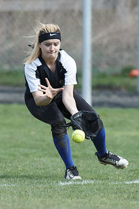 Wilcox Tech's Alexandra Nissle field a hit Tuesday at Platt High School in Meriden April 24, 2018   Justin Weekes / Special to the Record-Journal