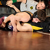 1-19-2010...125 lbs...Ridgewood's Brandon Giovanetti (top) pinned Edwin Fiscal in 4:35.<br /> PHOTO: KELLY BIRDSEYE