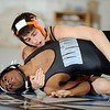 1-20-2010...125 lbs...Matt Goldstein of Pascack Hills (top) defeated Mahwah's Anthony Almeida by a  8-2 decision.<br /> PHOTO: KELLY BIRDSEYE